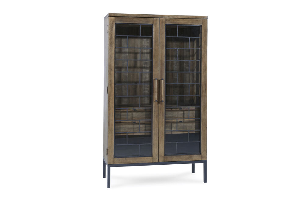 Mid-Century Modern Epicenters Display China Cabinetin Brown