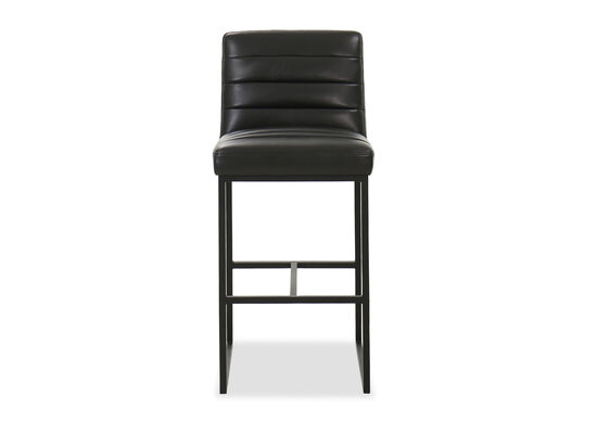 Quilted Casual Bar Stool in Black