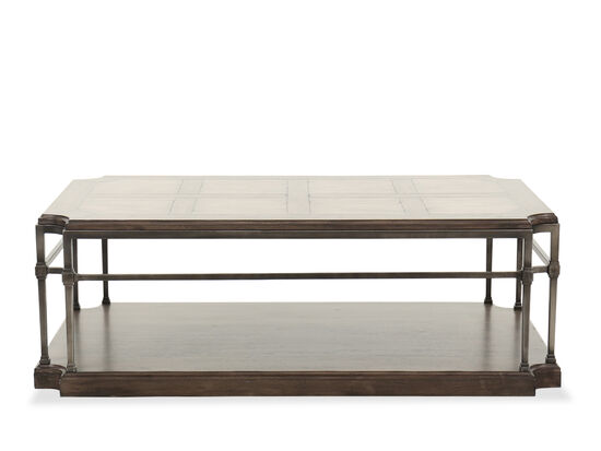 """54.5"""" Traditional Rectangle Cocktail Table in Brown"""