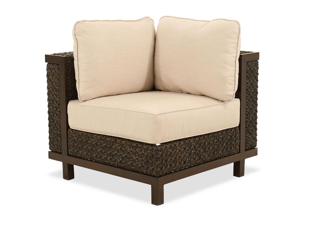 Woven Corner Chair in Ebony