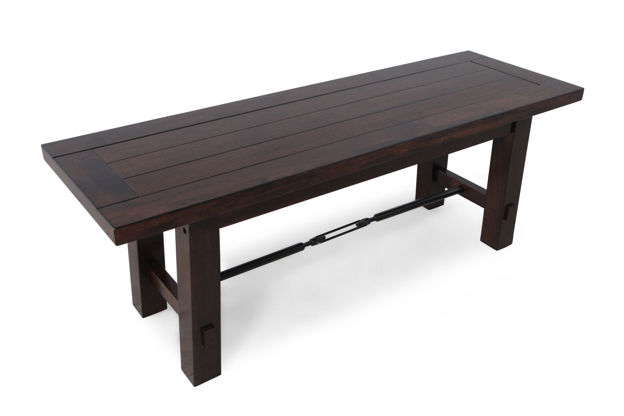... Dark Brown; Planked Top 50u0026#39;u0026#39; Dining Bench ...
