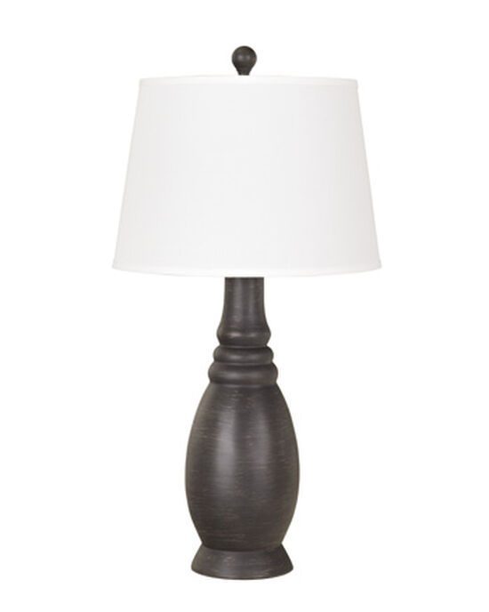 Casual Tapered Table Lamp in Antique Black