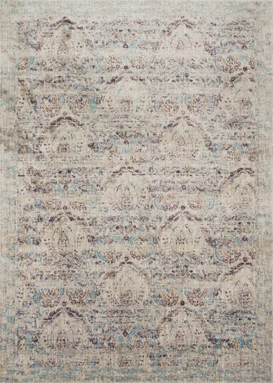 """Transitional 2'-7""""x4' Rug in Silver/Plum"""