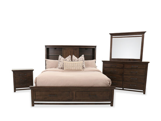Three-Piece Traditional Queen Bed Suite in Whiskey