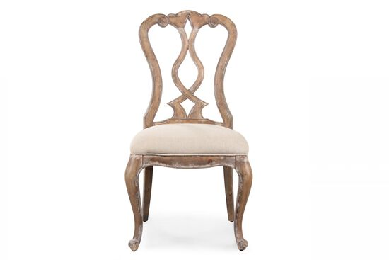 Two-Piece Splat Back Side Chair Set in Brown