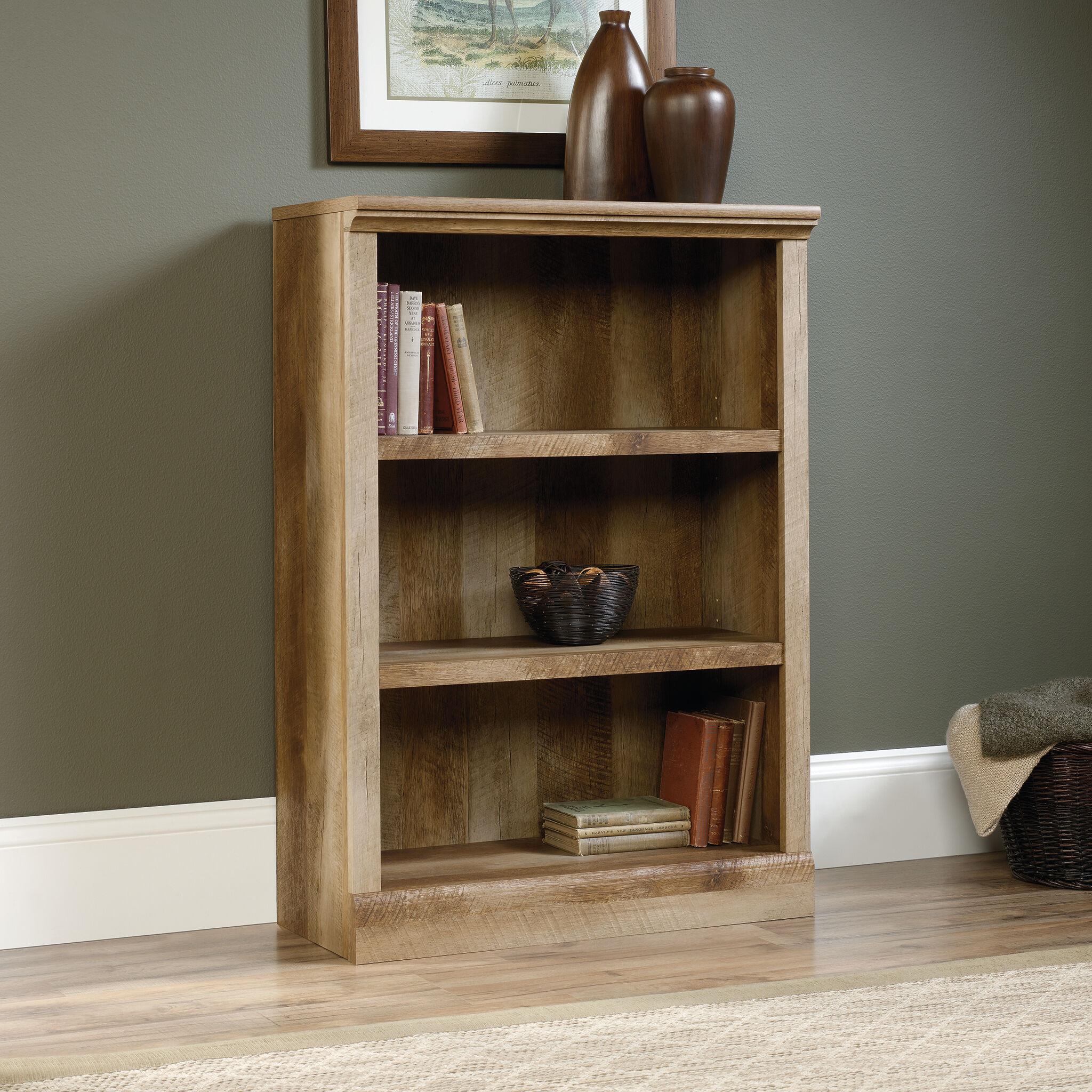 Contemporary Adjustable Shelf Bookcase In Craftsman Oak ...