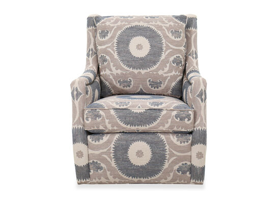 """Traditional Nailhead-Accented 31"""" Swivel Chair"""