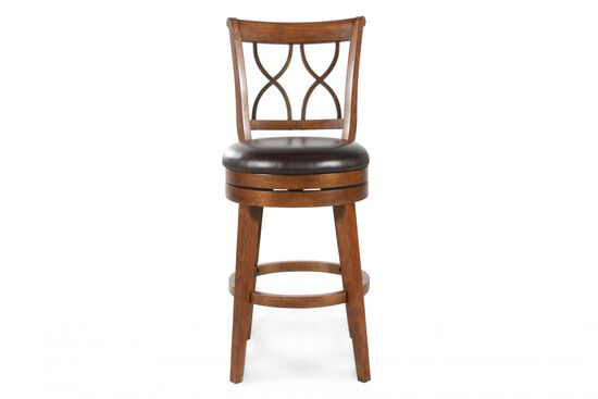 Casual Swivel Bar Stool in Brown
