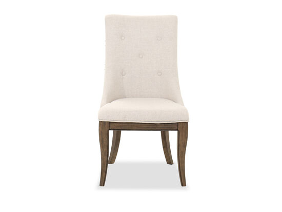 """Traditional 21"""" Button Tufted Side Chair in Brown"""