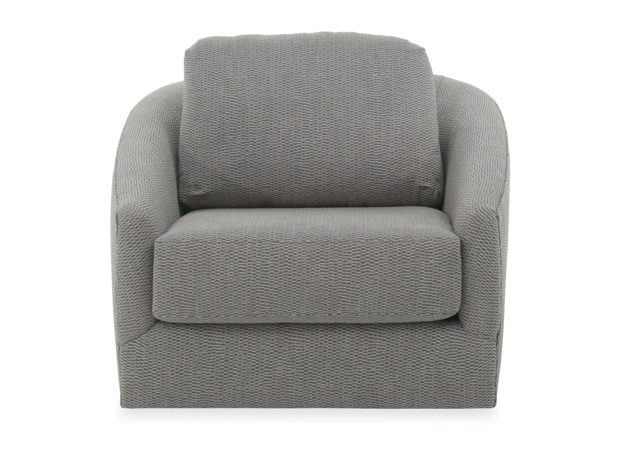 Textured contemporary swivel chair in gray mathis brothers furniture