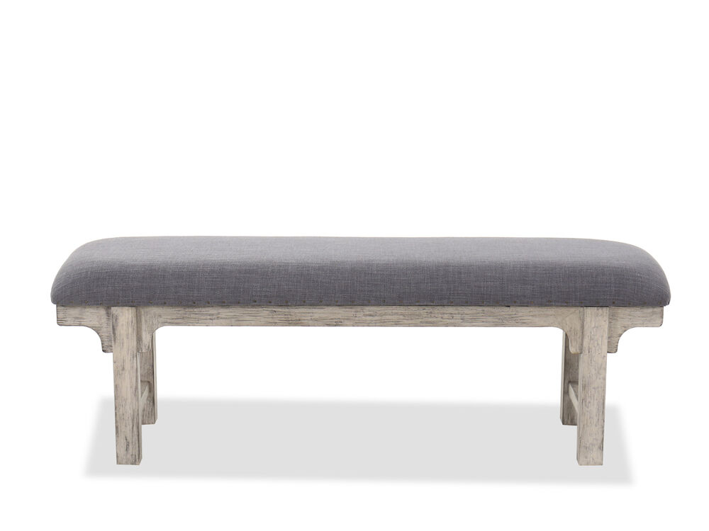 "19"" Traditional Bed Bench in Slate"