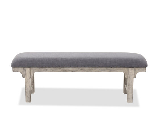"""19"""" Traditional Bed Bench in Slate"""