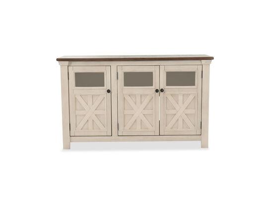 Three-Door TV Stand in Antique White