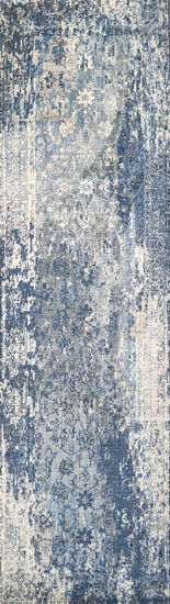 Transitional Power-Loomed 5 x 8 Rectangle Rug in Light Gray