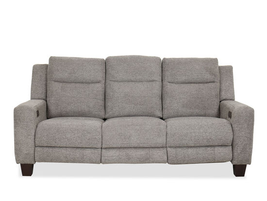 Casual Power Reclining Sofa in Gray