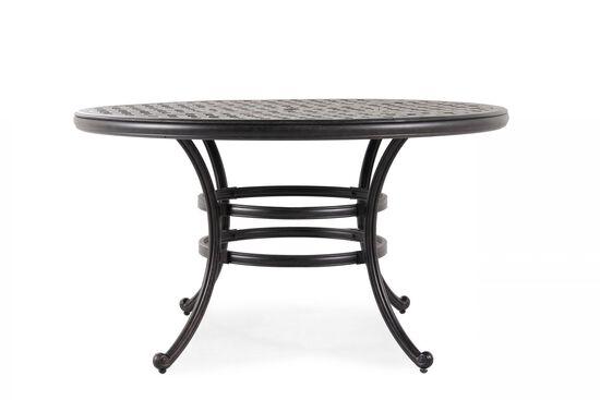 Contemporary Aluminum Round Table in Black