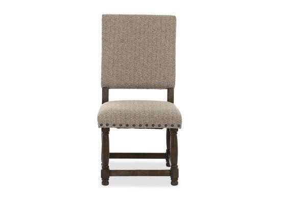 """40"""" Nailhead Detail Side Chair in Dark Oak/Brown"""