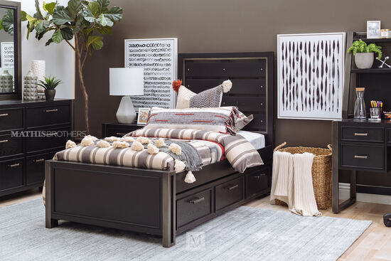 Samuel Lawrence Graphite Gray Youth Twin Bed