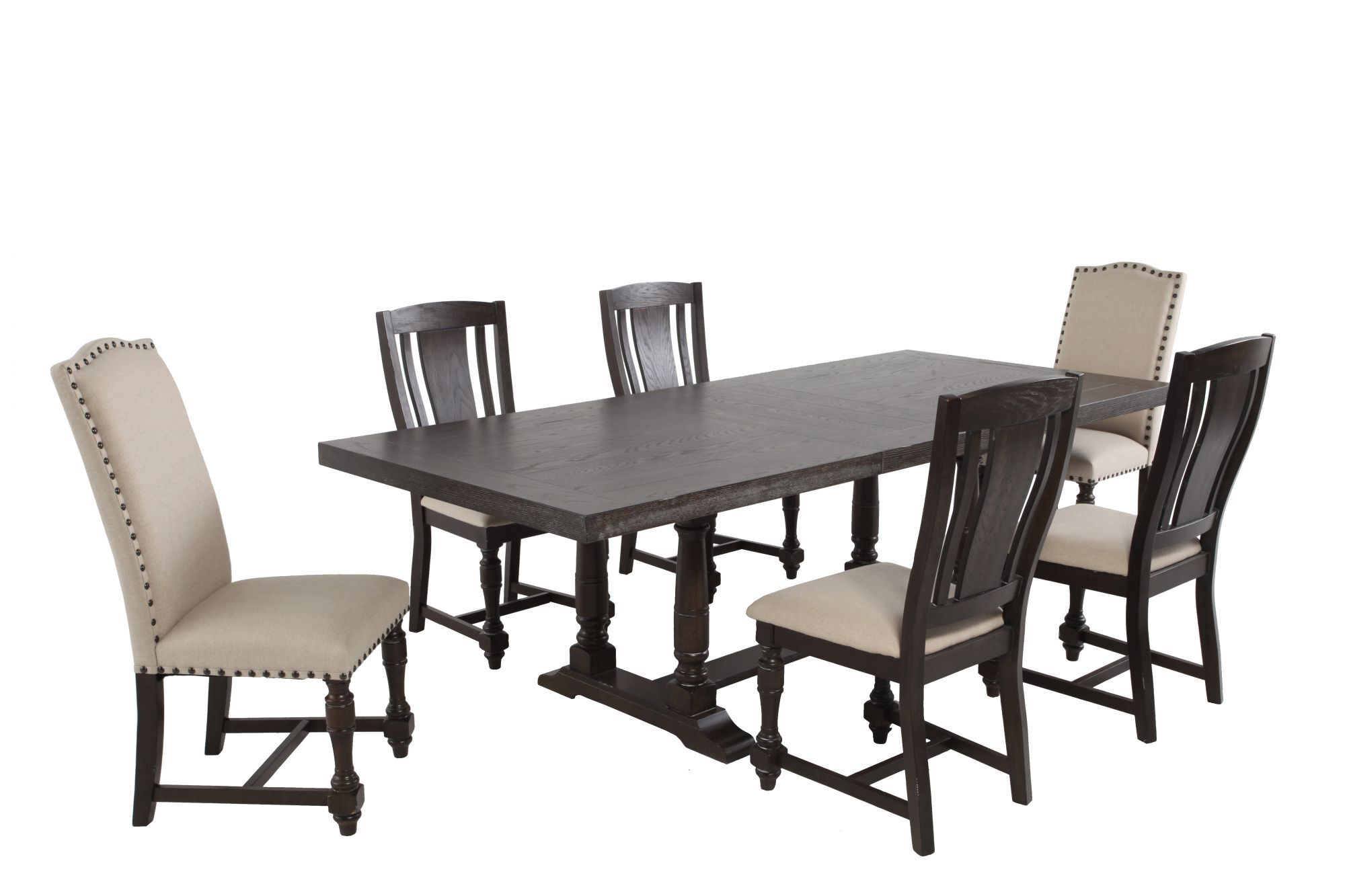 Seven Piece Solid Wood Traditional 76u0026#39;u0026#39; To 96u0026