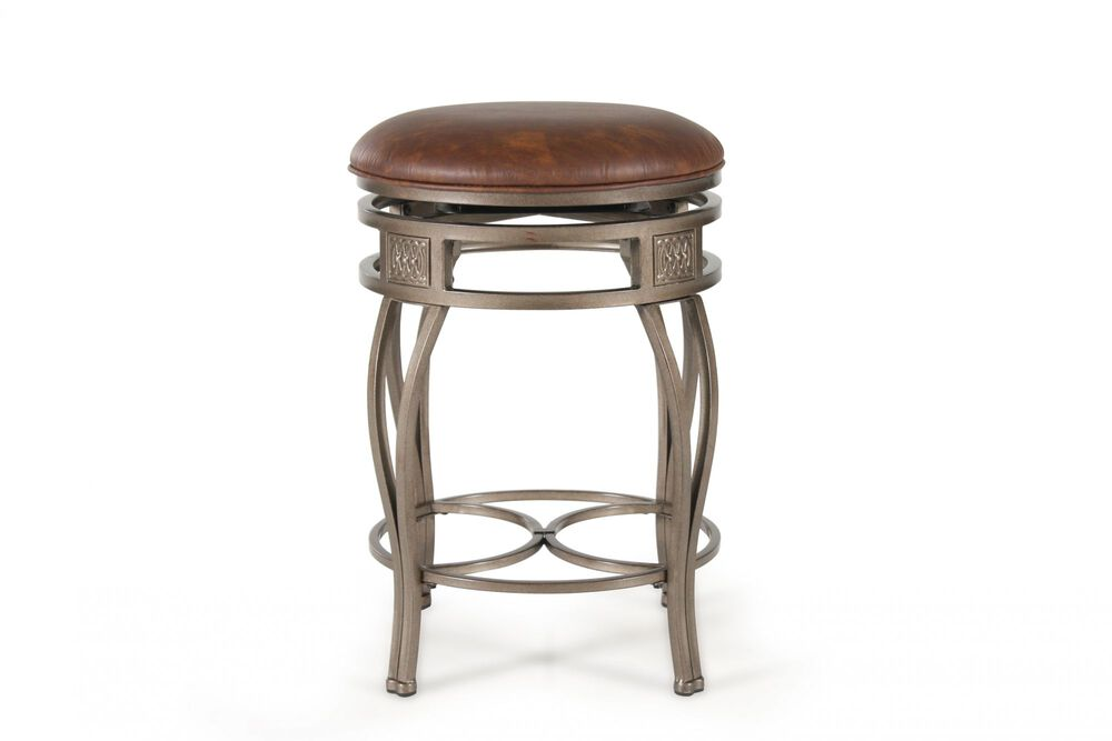 Traditional 26 Swivel Bar Stool In Old Steel Mathis Brothers