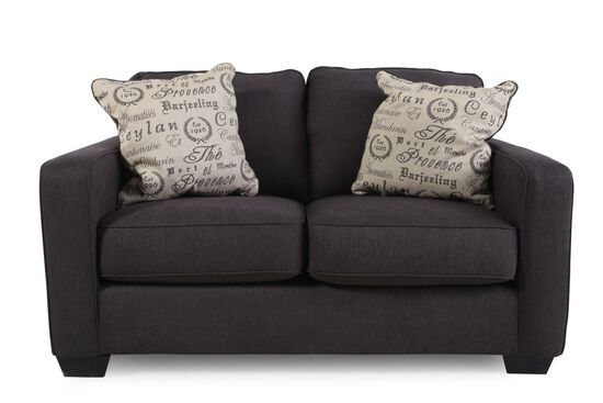 """Casual 61"""" Loveseat in Charcoal"""