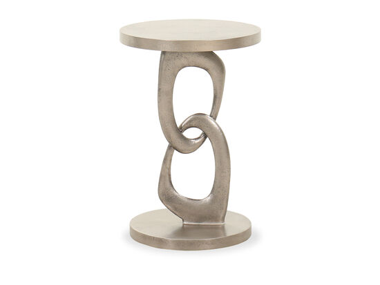 Aluminum Round Chairside Table in Graphite