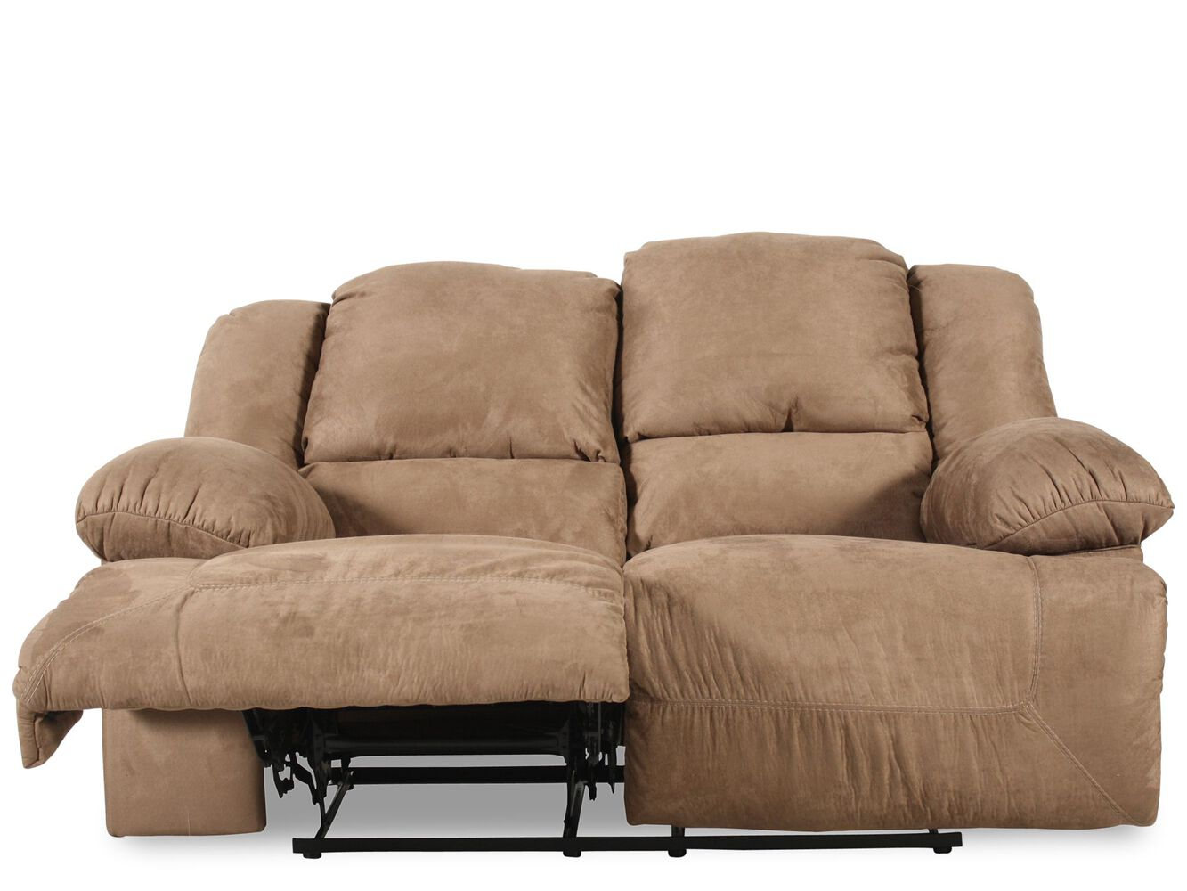 Ashley Mocha Microfiber Reclining Sofa And Loveseat Refil Sofa