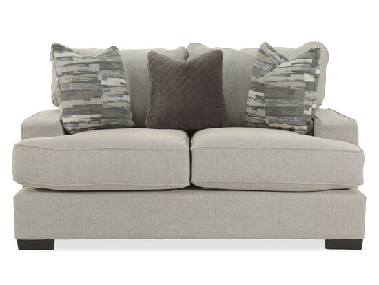 "Textured Casual 71"" Loveseat in Gray"