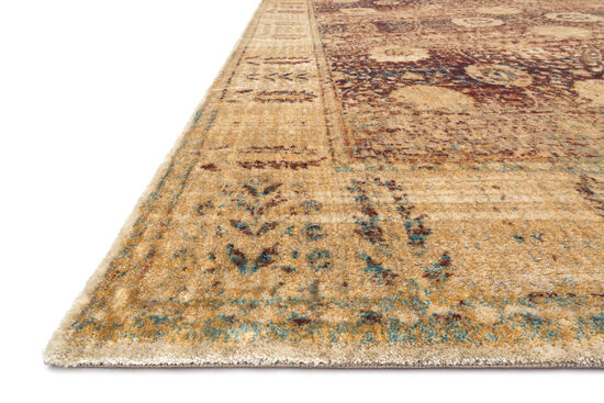 "Transitional 2'-7""x8'-0"" Rug in Red/Gold"