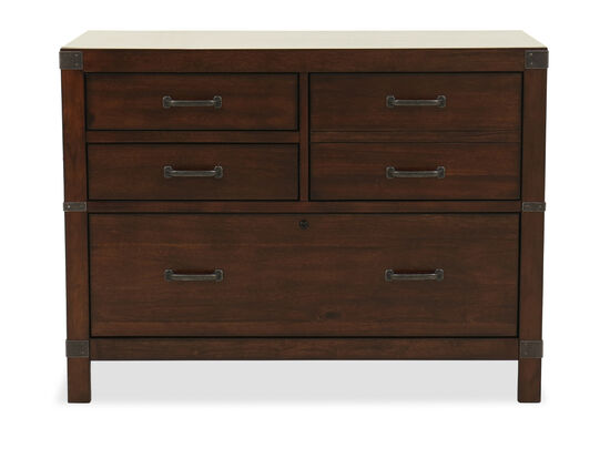 "42"" Traditional Four-Drawer Combo File Cabinet in Cognac"