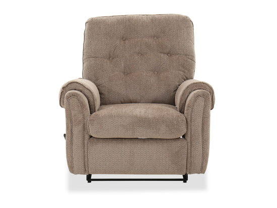 "Tufted Casual 36"" Wall Saver Recliner in Mushroom"