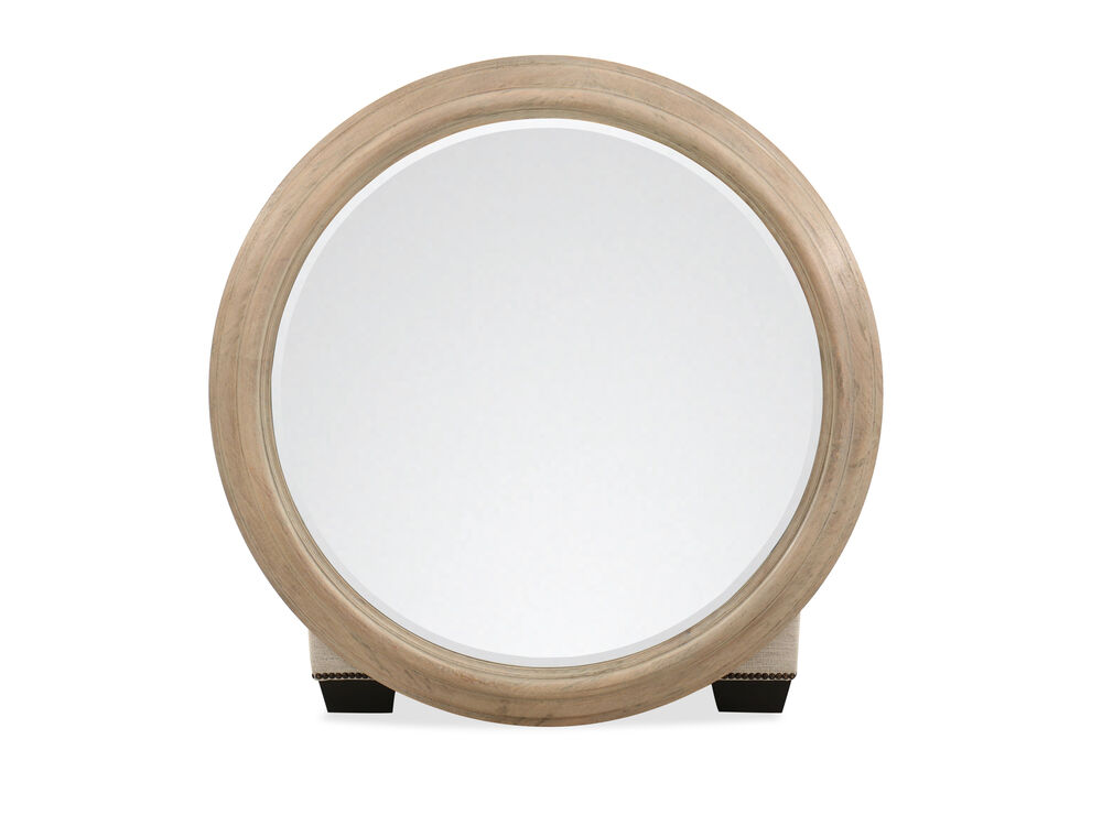Casual Round Mirror in Brown