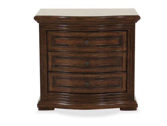 Three-Drawer Traditional Nightstand in Oak