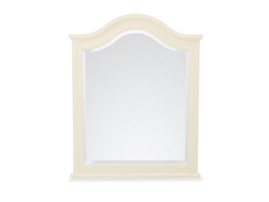 Transitional Arched Vertical Mirror in Ivory