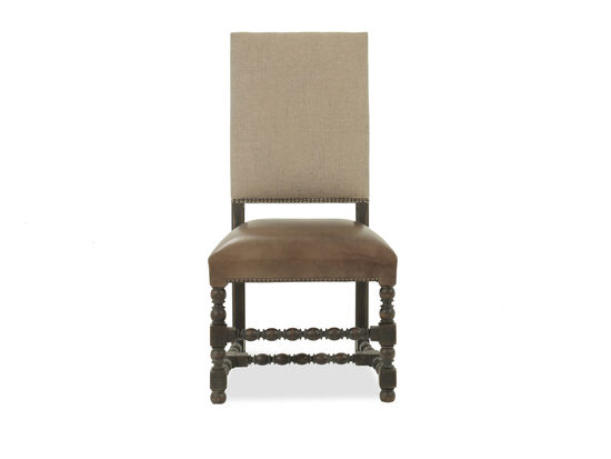 Leather 44'' Side Chair in Brown