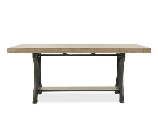 "Contemporary 40"" Rectangular Gathering Table in Light Oak"