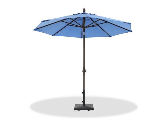 Casual Collar Tilt Umbrella in Brown/Blue