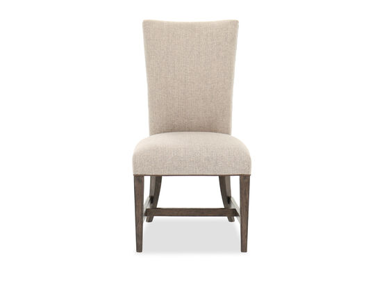 "Quilted Back Traditional 40"" Side Chair in Dove Gray"