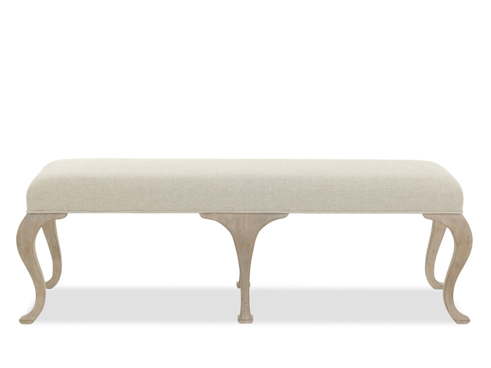 """Traditional 56"""" Bench in Beige"""