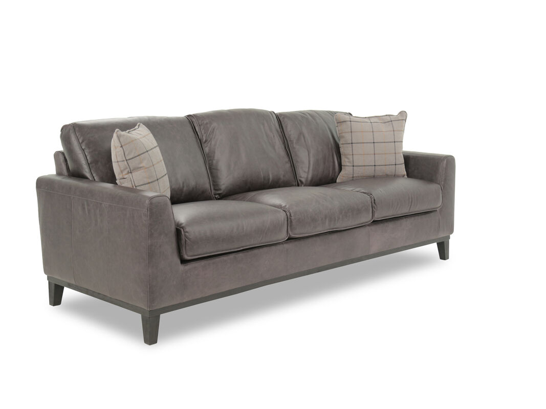 Casual Leather Sofa in Gray  Mathis Brothers Furniture