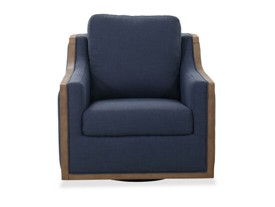 Modern Accent Swivel Chair in Blue