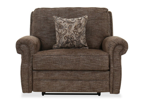 Contemporary Cuddler Recliner in Brown