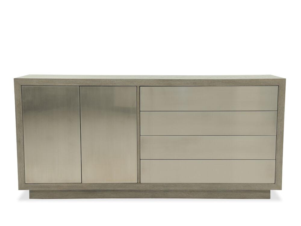 "Contemporary 78"" Rectangular Buffet in Gray"