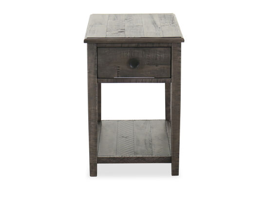 Casual Rectangular End Table in Dark Gray