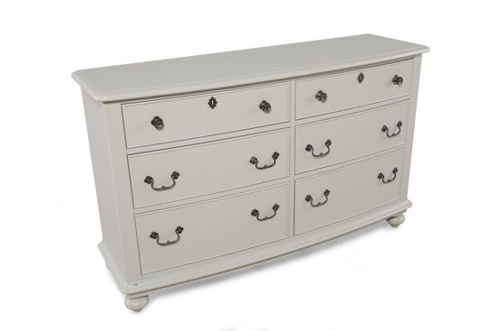 Six-Drawer Youth Dresser in Light Gray