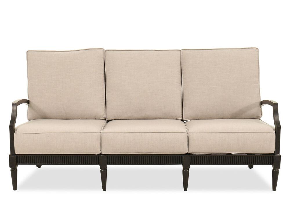 Weather-Resistant Aluminum Sofa in Beige