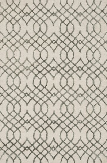 """Transitional 2'-3""""x3'-9"""" Rug in Ivory/Grey"""