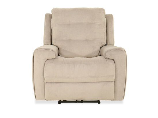 Casual Power Recliner in Stone