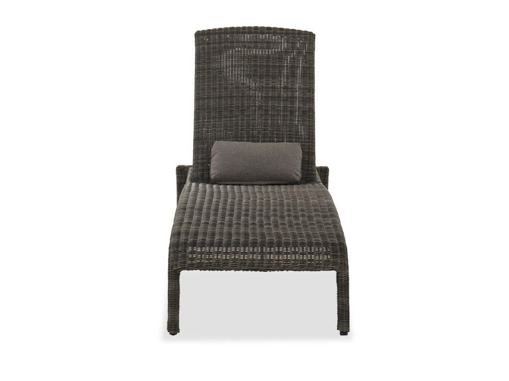 Contemporary Patio Chaise Lounge in Dark Gray