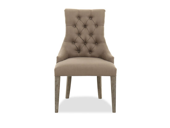 Contemporary Button-Tufted Side Chair in Brown